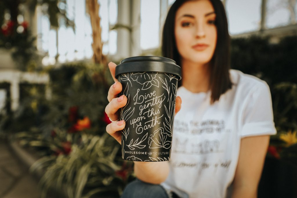 Wholesome Culture biodegradable reusable coffee mug