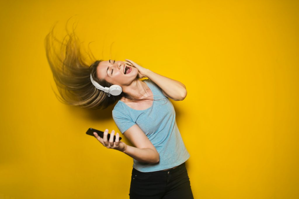listening to happy music can make you feel more positive