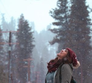 woman in winter weather